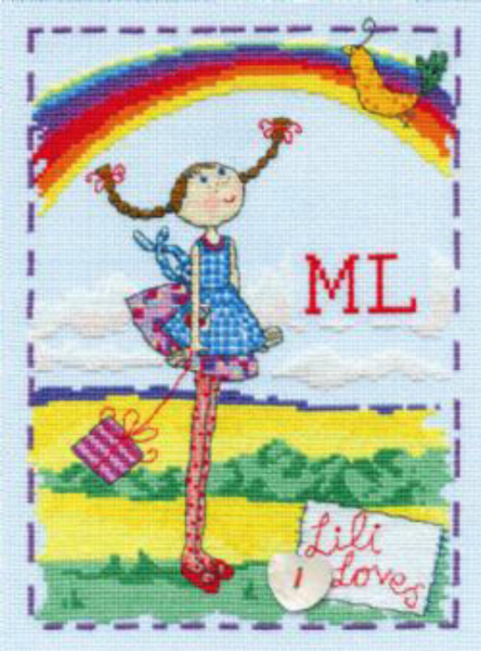 Lili Loves Rainbows Cross Stitch Kit